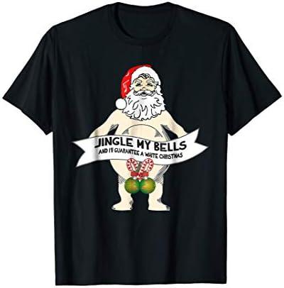 Jingle My Bells Naked Santa T Shirt Funny Christmas Gift product image