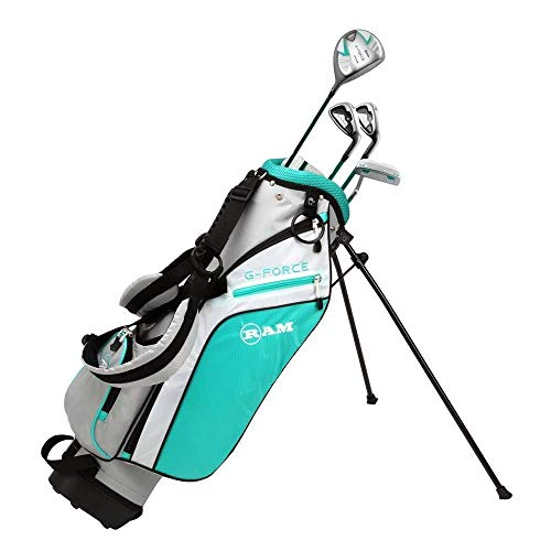 RAM Golf Junior G-Force Girls Right Hand Golf Clubs Set with Bag (Ages 10-12)