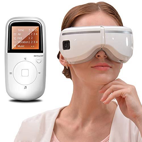 lqgpsx Masajeador Ojos EléCtrico, Dispositivo InaláMbrico Inteligente para Cuidado Salud ProteccióN Visual MúSica VibracióN RelajacióN EnfermeríA PresióN Aire VibracióN Alivio Los Ojos