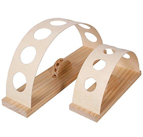 Holz Ständer - für 5 Stück Schultüten / Zuckertüte - von 10 bis 100 cm - kein Verknicken der Spitze - Holzständer Schultüte Zuckertüten - auch geeignet für Sc..