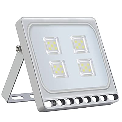 Missbee 20W Led Flood Light,New Craft Thinner Lighter Outdoor Security Light, 1100Lm, Cold White 6000-6500K, IP67 Waterproof, Landscape Spotlights for garage, yard, lawn and Garden