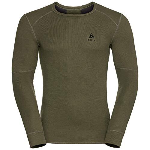 Odlo Shirt l/s Crew Neck X-Warm sous-vêtements Homme, Winter Moss Melange, XL
