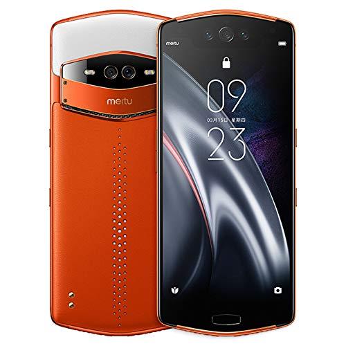 Meitu V7 8GB 128GB 6.21' Snapdragon 845 Octa Core 3 Front Camera+2 Back Camera Android 9.0 Meitu Selfie Beauty Mobile Phone (8G+128GB Orange)