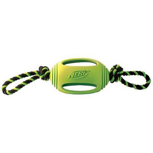 Nerf Dog Medium to Large Green Rubber Tuff Tug Dog Toy