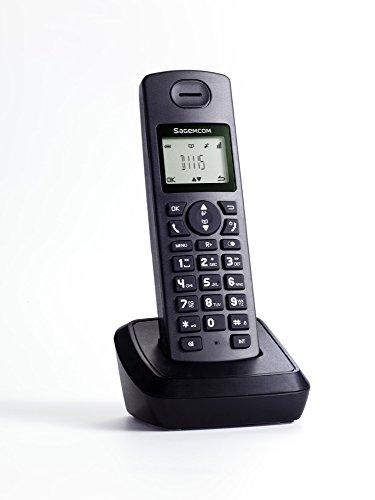 Sagemcom D1115 - Teléfono Fijo, Color Negro