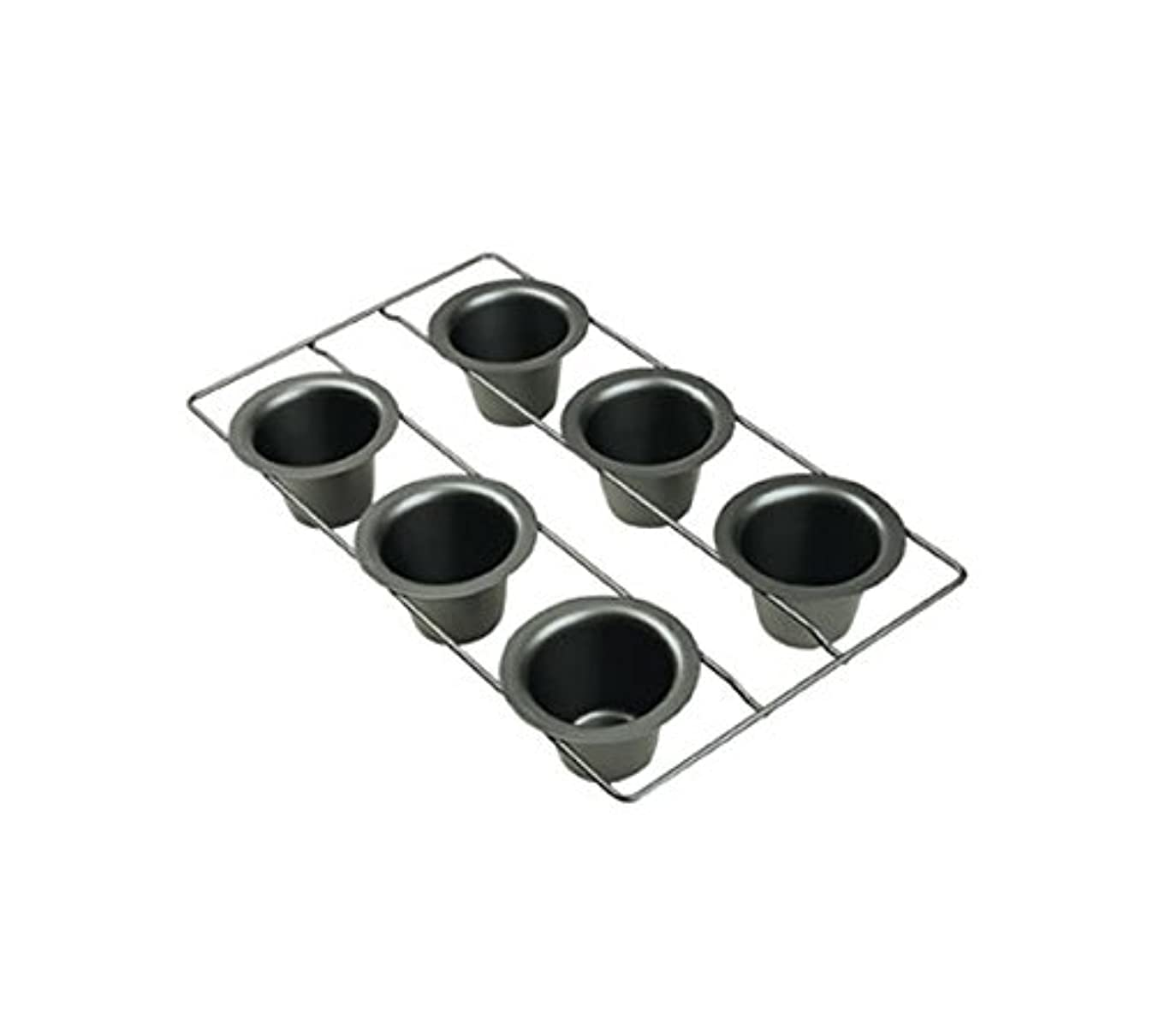 Focus Foodservice 926561 Popover Pan, 6 Molds, 10-5/8