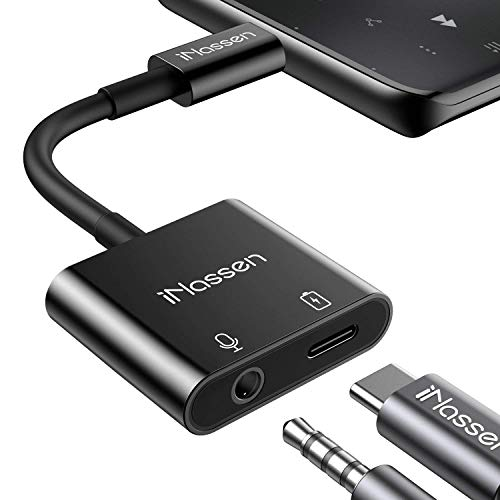 USB Type C to 3.5 mm Headphone Adapter Jack 4 in 1 USB C Splitter AUX Audio Charger Adapter Cable Compatible with Samsung S20+/Note20/Google Pixel 3/4XL, Huawei Mate30 Pro/P40 Pad Pro