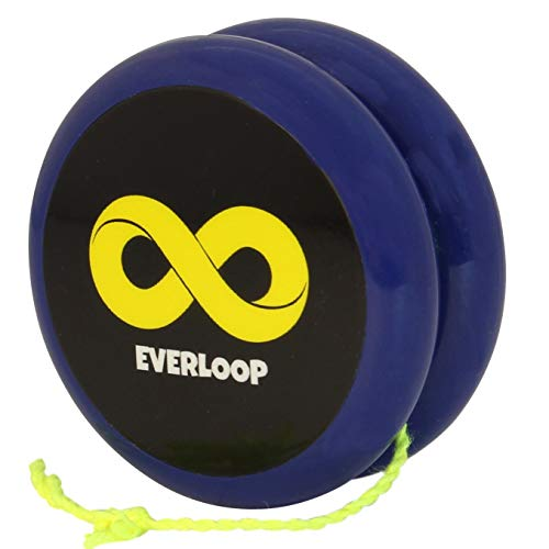 Yoyo King Blue Everloop Professional Looping 2A Trick Yoyo with Ball Bearing Long Spin Axle and Extra String