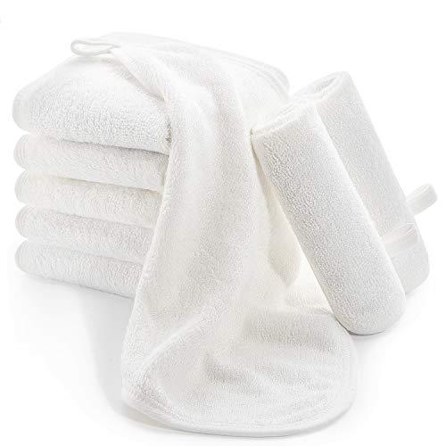 Momcozy Bambus Baby Waschlappen, 8 Stück Baby Handtücher Set 25x25cm, Weiche Musselin Waschlappen, Baumwolle Mulltücher Baby, Baby Gesichtstücher für Bad, Hände, Mädchen und Jungen