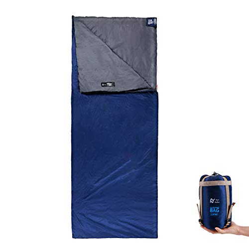 S.Y Home&Outdoor Sleeping Bag with Stuff Sack Lightweight Waterproof Camping Sleeping Bags for Adults, Kids - Backpacking Camping Gear Equipment for Traveling and Outdoor - Dark Blue