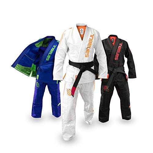 Sanabul Highlights Professional Competition BJJ Jiu Jitsu Gi (White, A2) See Special Sizing Guide