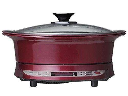 コイズミ IHクッキングヒーター(焼肉プレート+鍋付属) IHグリル鍋 レッド KIH-1410/R