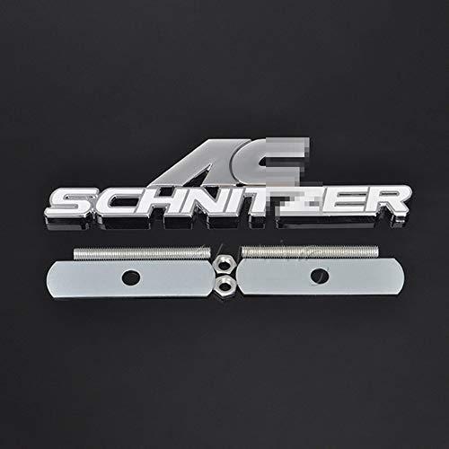 JTAccord 3D Metallmaterial Auto Frontgrill Emblem Auto Front Grill Schild für BMW AC Schnitzer M M3 M5 E46 E39 E36 E34 E90 X1 X3 X5 X6, Auto Car Styling Zubehör, 1St. / Set
