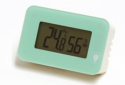エンペックス (EMPEX) 温度計・湿度計 エメラルド 52×34×15mm シュクレ・イルミー、エメラルド TD-8333