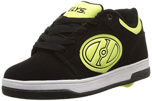 Heelys Voyager (he100373), Chaussures de Skateboard Mixte Enfant, Multicolore (Black/Bright Yellow G.I.D. 000), 34 EU