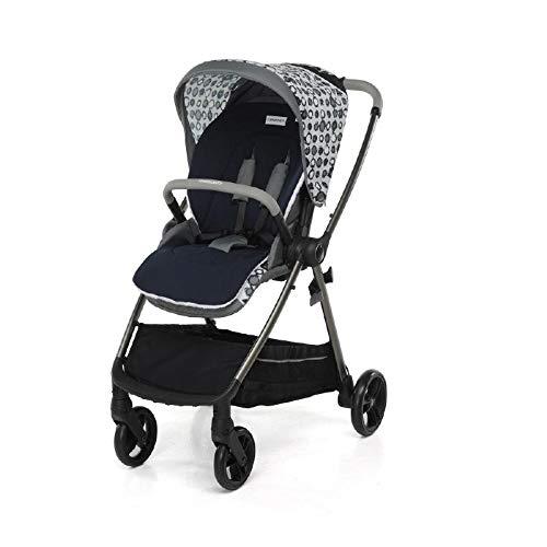 Tencel - Colchón para cochecito de bebé, color azul