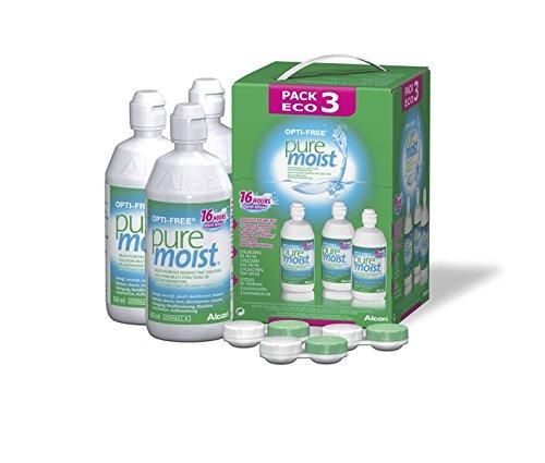 Opti-Free Puremoist–Solución de mantenimiento para blandas–Pack 3botellas de 300ml
