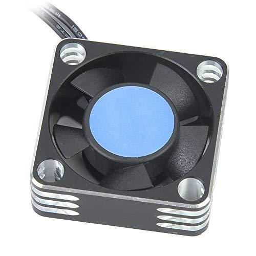 RC Lüfter, RC Metal 504 Motor ESC Lüfter Kühlkörper Upgrade Teil Zubehör( Silber Schwarz )