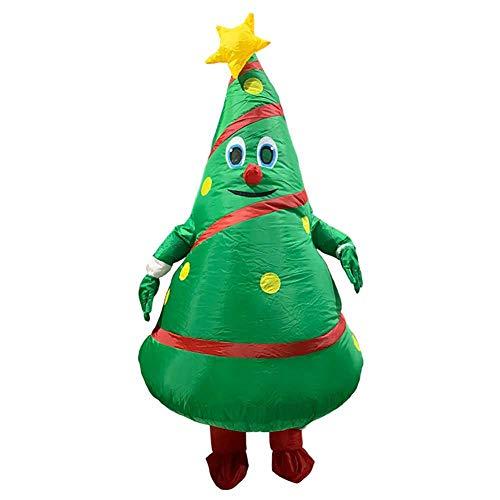 maofan Kerstboom Opblaasbare Kostuums, Hilarische Volwassen Opblaasbare Zand, Kostuum Dysmognos Cosplay Kostuums Groene
