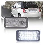 ZIHAN Feil Store 2 PZ Canbus LED Numero di Licenza Light per Fiat 500 Fit per Fiat Abarth 500 Modello 2007-2016 Targa 51800482