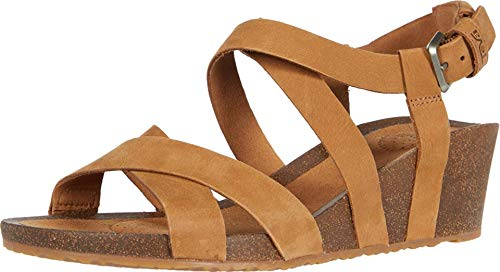 Teva Damen Mahonia Wedge Cross Strap Womens Sandale mit Absatz, braun, 38 EU