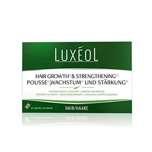 Luxéol Pousse(1), Wachstum(1) & Stärkung(2) 1 Monat - Fördert das Haarwachstum (1) - Nahrungsergänzungsmittel - 30 Kapseln 40 g