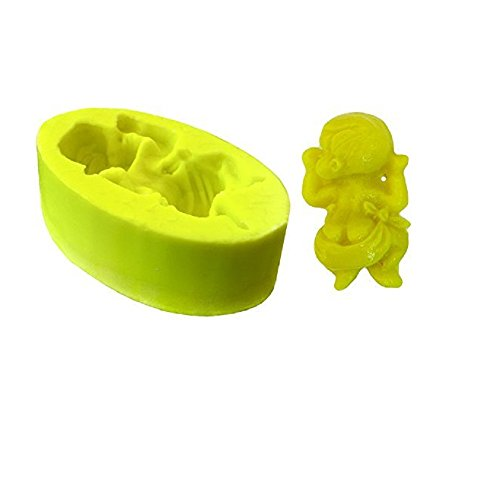 Inception Pro Infinite Silicone mold mould arts and crafts of a monkey sitting on a large heart also suitable for candles