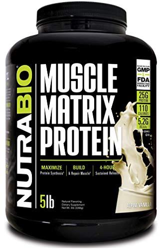 NutraBio Muscle Matrix - Whey Protein Blend (Vanilla, 5 Pounds)