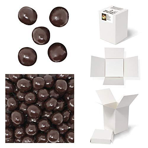 Bulk Gourmet Emporium, nocciole tostate ricoperte di cioccolato fondente belga, senza plastica, vegetariane e halal, frutta secca ricoperta di cioccolato, 460 g