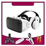 VR Brille, HD Virtual Reality Brille, 100° FOV, für 3D Film und Spiele, 4,7-6,5 Zoll für iPhone SE 6/6s/7/8/X/XS, Samsung Galaxy S6/S7/S8/S9, Huawei p10/p20. Mit Google Cardboard Apps, L050xq