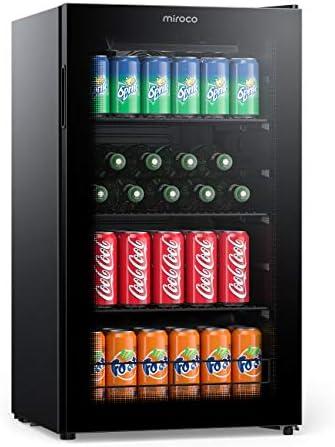 Miroco Beverage Refrigerator Cooler Beer Fridge Drink Fridge with 3 Layer Glass Door Removable product image