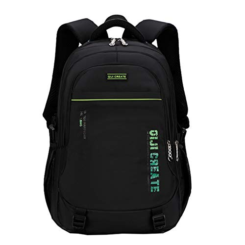 School Backpack for Girls Boys Primary School Bags Teenager Rucksacks Travel Laptop Daypack Casual Bookbag Kids Satchel, Green 20 inch