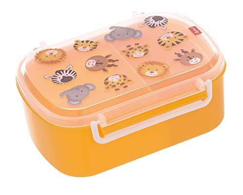 sigikid 25133 Mädchen und Jungen, Kinder Brotdose mit Buntem Druck, Lunchbox Zoo für Kindergarten, Schule & Ausflüge, BPA-frei Brotzeit-Dose