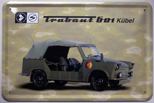 """Sammler-Blechschild / Gr. ca. 20x30cm / gewölbt \""""Trabant\"""" (Kübel)"""