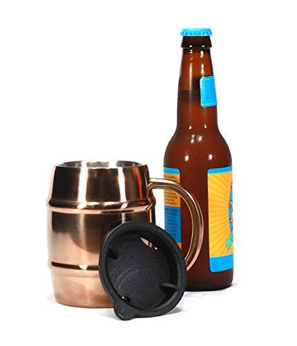 Trendiware Double Wall Stainless Steel Insulated 14oz Beer Mug Coffee Mug Copper Finish 1