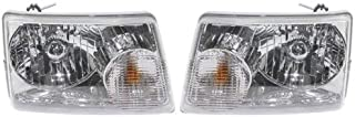 Headlight Assembly Compatible with 2001-2011 Ford Ranger Halogen Passenger and Driver Side