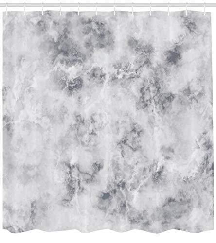 Marmor Duschvorhang, Granit Oberfläche Muster mit stürmischen Details, natürlicher Mineralbildungsdruck, Stoffstoff, Badezimmerdekoration