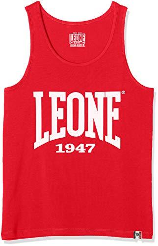 Leone 1947 LSM390, Canotta Uomo, Rosso, XS