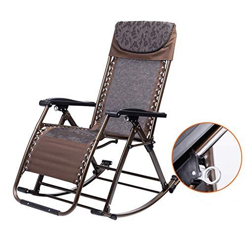 Gravity Chair, Fauteuils à bascule d'extérieur pour adultes Relax Comfort | Chaise de jardin avec repose-pieds ajustable et dossier inclinable | Fauteuil inclinable pliant pour cadre en acier patio