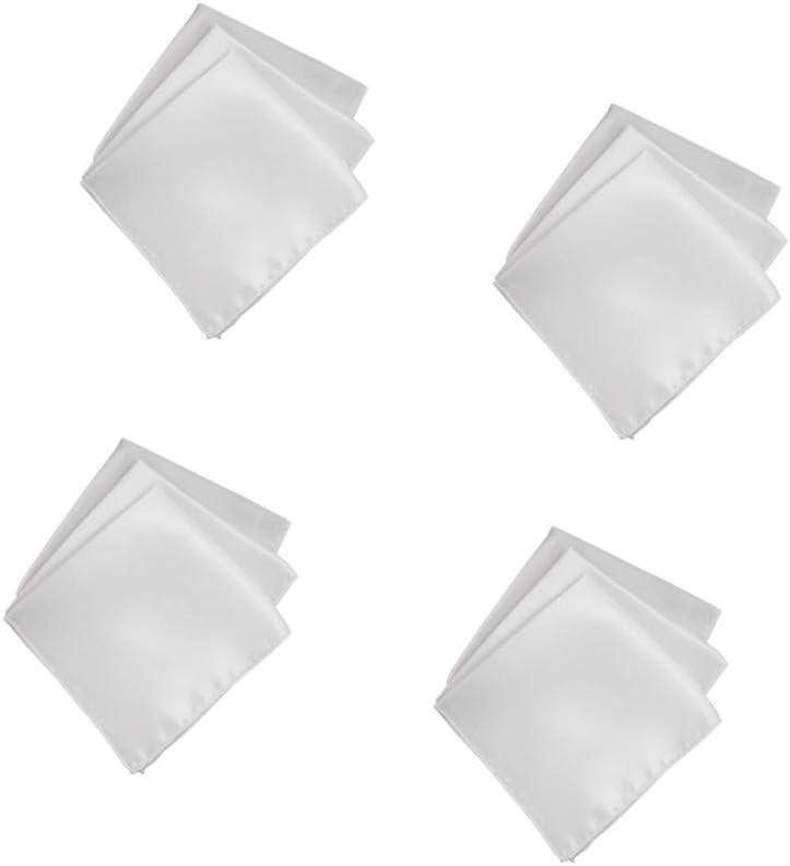 Milageto Handkerchief/Handkerchief Polyester Serviette Party Decor White 40 Pieces