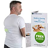 Stop Snoring T-Shirt - Snore Stopper - Most Comfortable Snoring Aid. Health Expert Recommended for Back Snorers! Eliminates Snoring by Adjusting Your Sleeping Position. Guide to Snoring Ebook