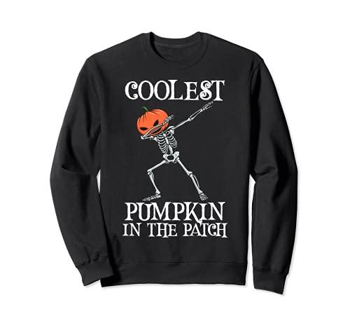 La calabaza ms fresca en el parche Dabbing esqueleto Halloween Sudadera