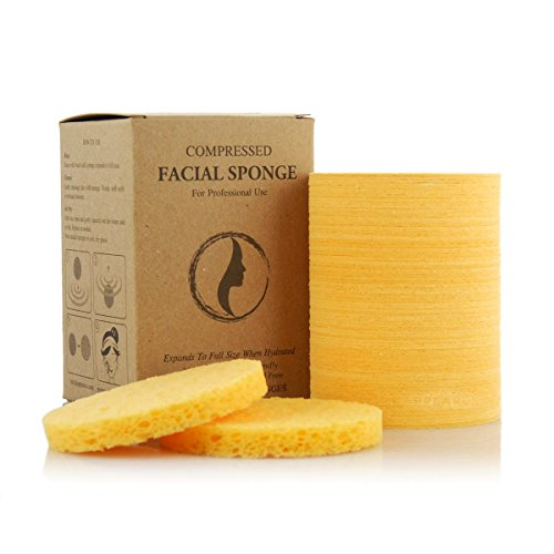 Appearus Compressed Facial Cleansing Sponges, Natural (100 Count/S1901Y) by Appearus