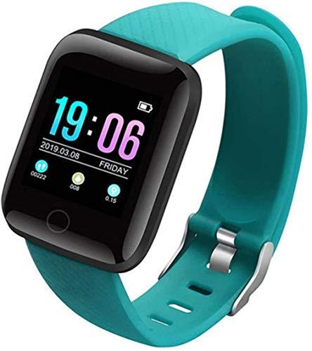 Pulsera inteligente impermeable para hombre y mujer, con pantalla a color, pulsera electrónica de control de presión arterial y frecuencia cardíaca (color: rojo) y verde.