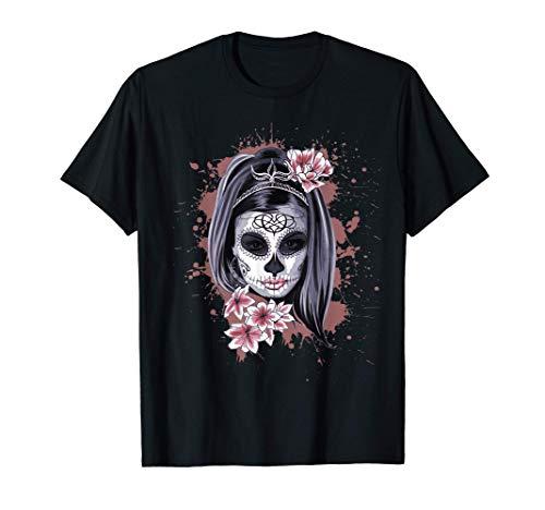 La Calavera Catrina Halloween Candy Sugar Skull Girl Camiseta