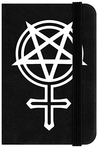 Feminist Goth Mini cuaderno negro 6,5 x 10 cm