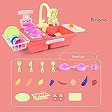 Lying Kinder-Geschirrspüler Spielhaus Spielzeug, automatisches Wasser Jungen und Mädchen Küchensimulation elektrischer Geschirrspüler Spültisch
