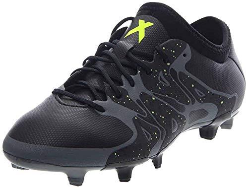 adidas Mens X 15.2 FG/AG Firm Ground/Artificial Grass Soccer Cleats (8.5) Black