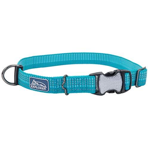 Coastal - K-9 Explorer - Brights Reflective Adjustable Dog Collar, Ocean, 5/8' x 08'-12'
