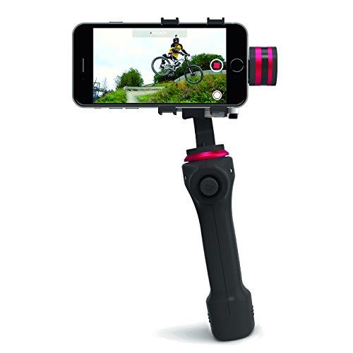 CamOneTec COIN90 Gravity Life 3D Handgimbal für Smartphone schwarz/rot